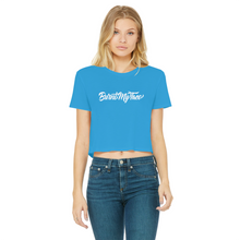 Load image into Gallery viewer, Burnt My Taco Classic Women's Cropped Raw Edge T-Shirt
