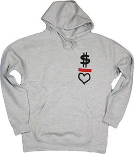 MONEY OVER LOVE (GREY) UNISEX SWEAT TOP