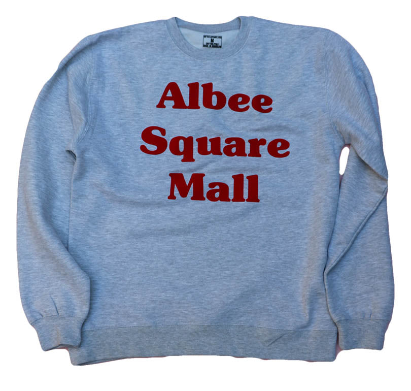 ALBEE SQUARE MALL GREY LIGHTWEIGHT (UNISEX) SWEAT TOP