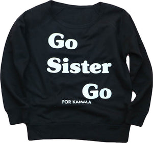 "GO SISTER GO ""KAMALA"" WOMENS LIGHTWEIGHT SWEAT TOP"