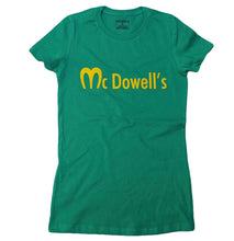 Load image into Gallery viewer, McDOWELL'S (GREEN & RED) SLIM FIT WOMENS TEE