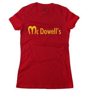 McDOWELL'S (GREEN & RED) SLIM FIT WOMENS TEE