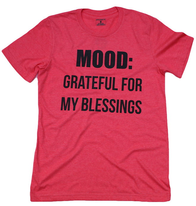 GRATEFUL FOR MY BLESSINGS (HEATHER RED) MENS/UNISEX