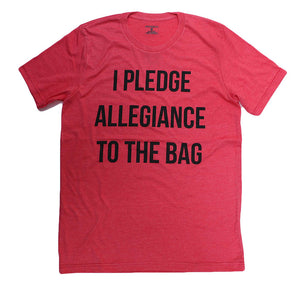 I PLEDGE APPEGIANCE TO THE BAG (HEATHER RED) UNISEX
