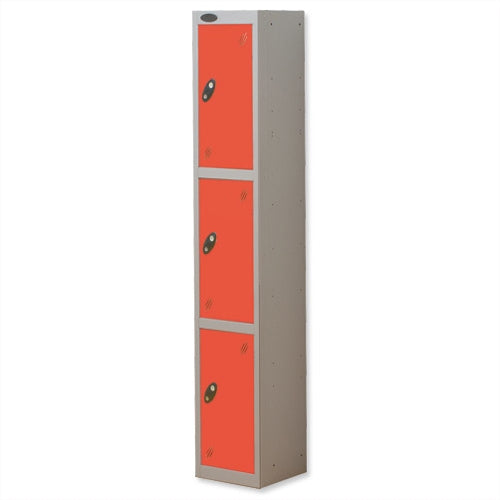 Probe Three Door Lockers (Red)