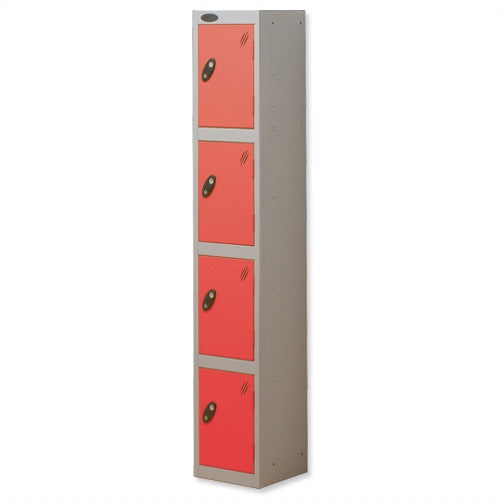 Probe Four Door Lockers (Red)