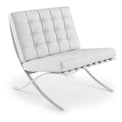 Barcelona Style Single Seater White