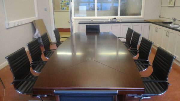 3.5m Shelbourne Walnut Veneer Boardroom