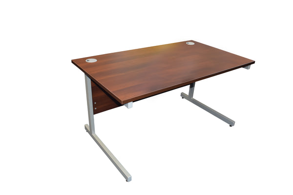 New Walnut Straight Desk