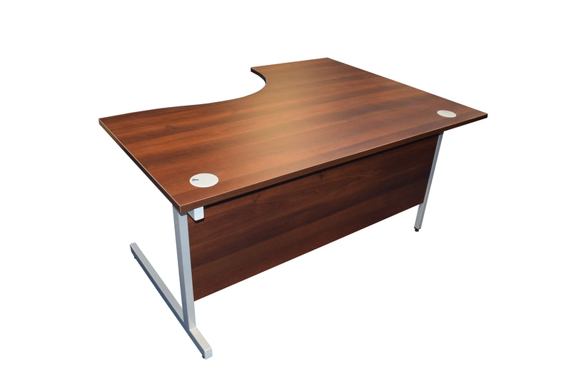 New Walnut 1600 Radial Desk