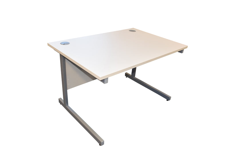 Ashford White Straight Desk 1600mm