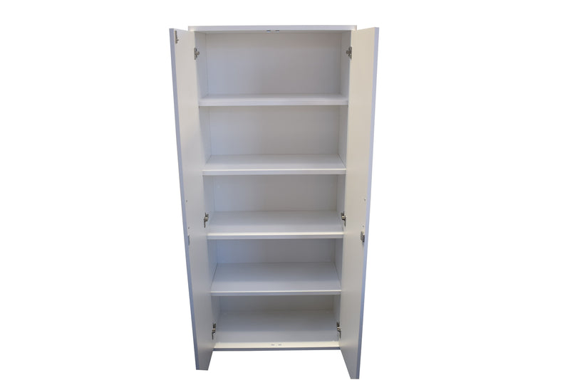 Tall White Storage Cupboard
