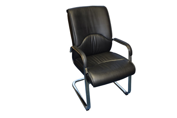 Black Leather Rio Boardroom Chair