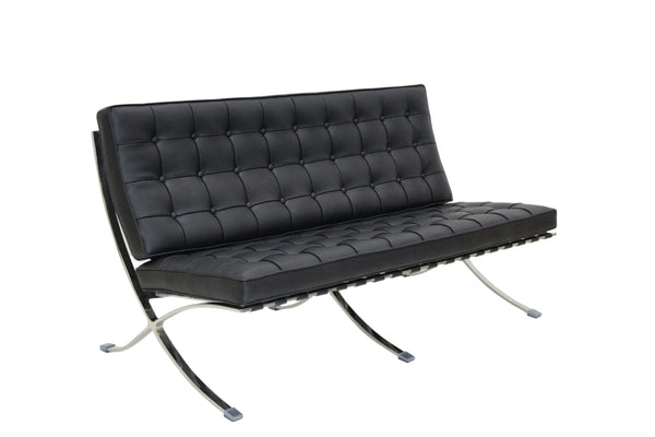 Barcelona Style 2 Seater Black