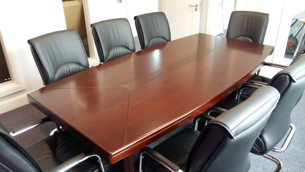 2.4m Shelbourne Walnut Veneer Boardroom