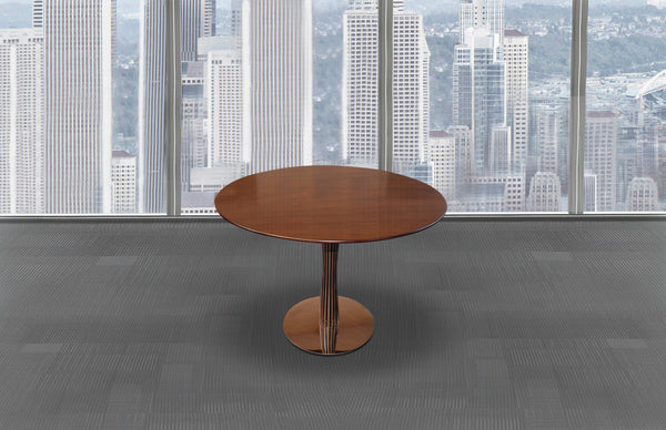 1m Walnut Veneer Meeting Table
