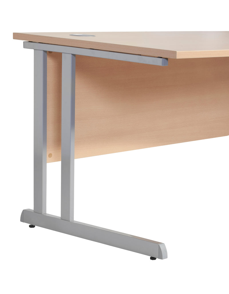 Beech 1.6m Straight Desk