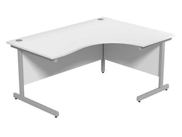 Ashford White Radial Desk 1600 x 1200