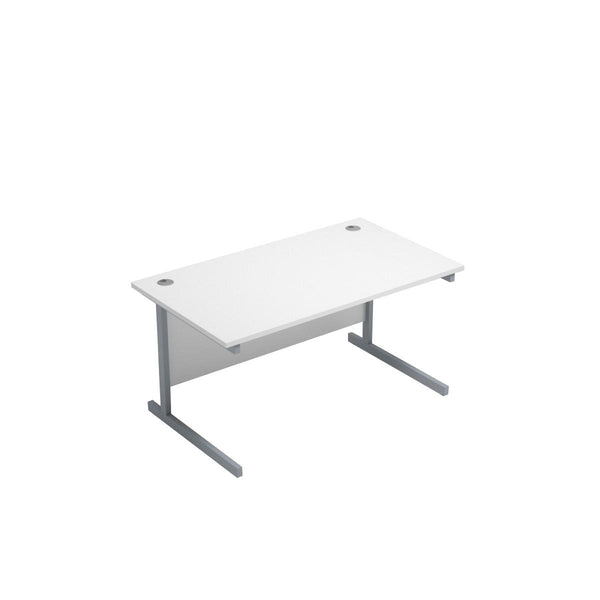 Ashford White Straight Desk 1200