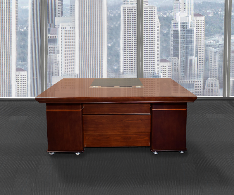 Merrion Walnut Veneer Executive Desk