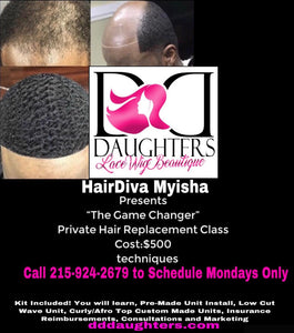 Man Hair Unit Class-D.D. Daughters Lace Wig Beautique