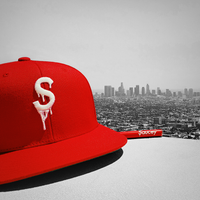 Saucey Red Snapback with Red Undervisor