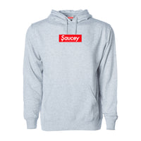 Saucey Extracts Box Logo Hoodie — Heather Grey