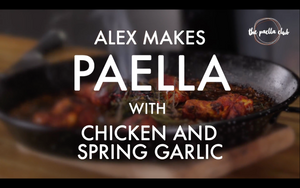 Chicken/Meat and Spring Garlic Paella