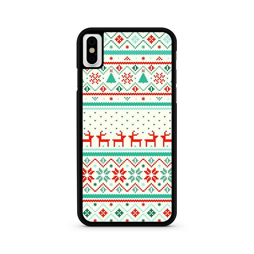 Christmas aztec iPhone X case