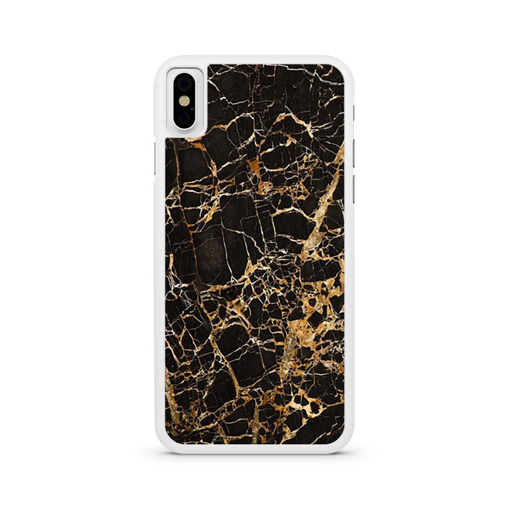 Black Gold Marble iPhone X case