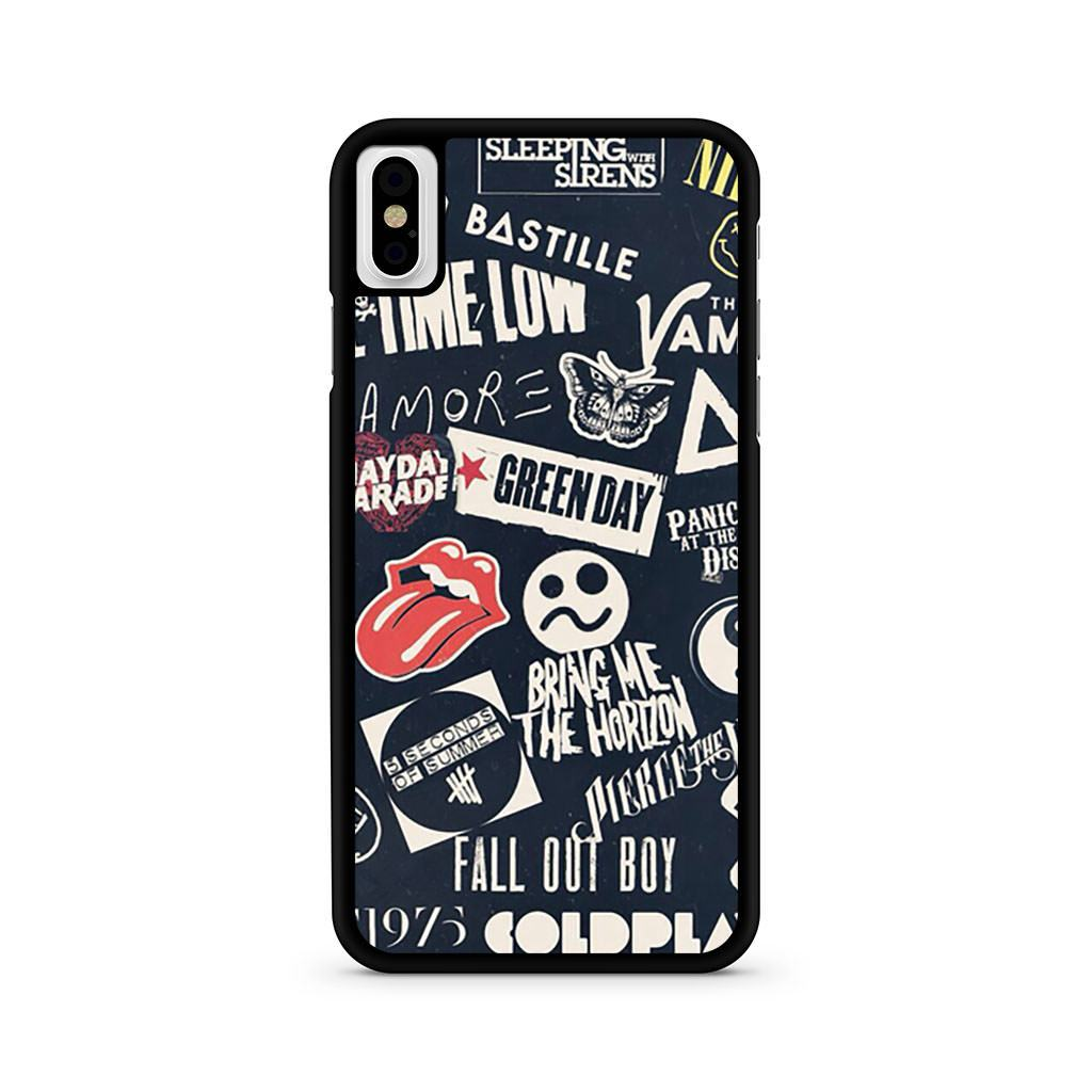 Bands Collage iPhone X case