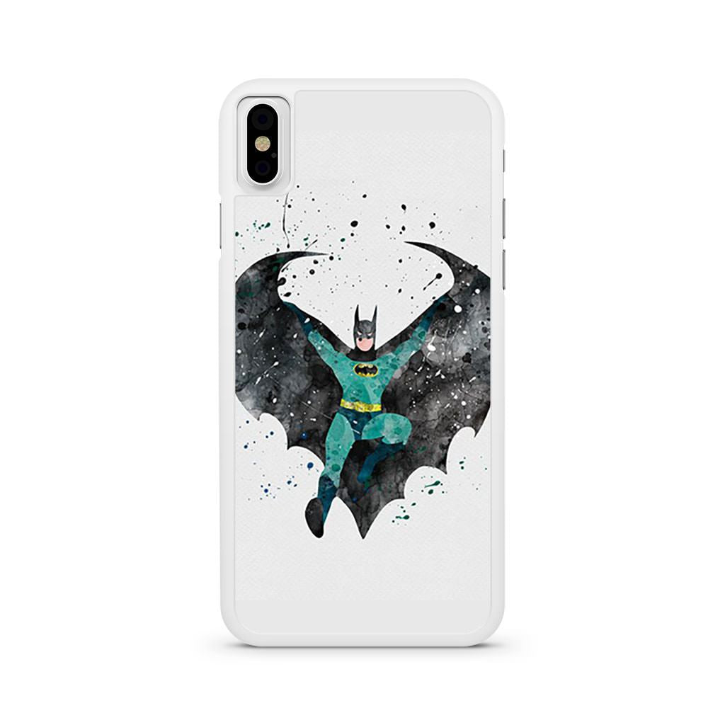 Batman Watercolor Art iPhone X case