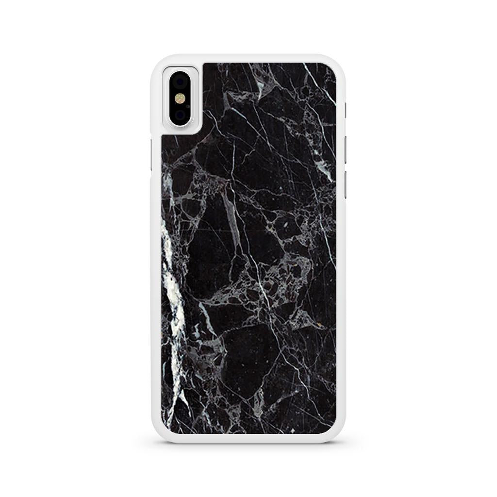 Marble Black iPhone X case