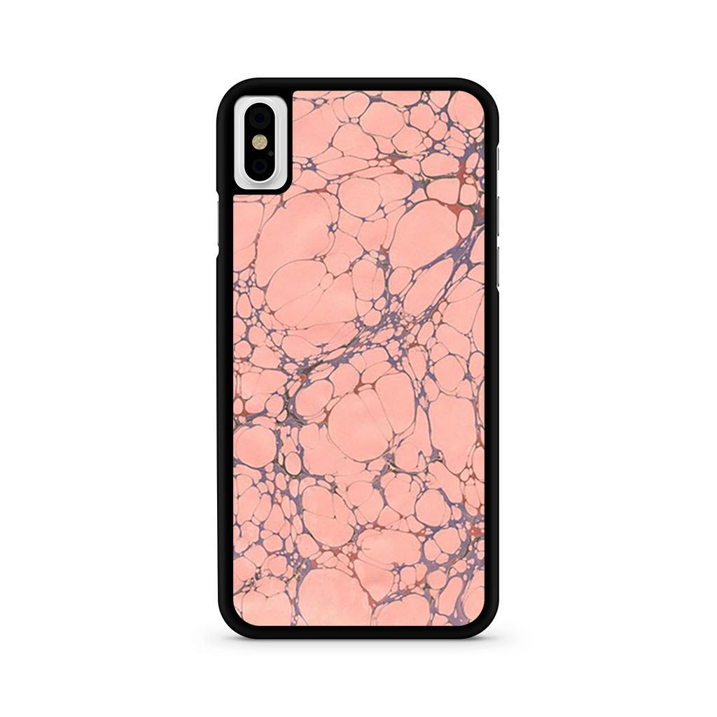 Marble Pink Effect Grey iPhone X case