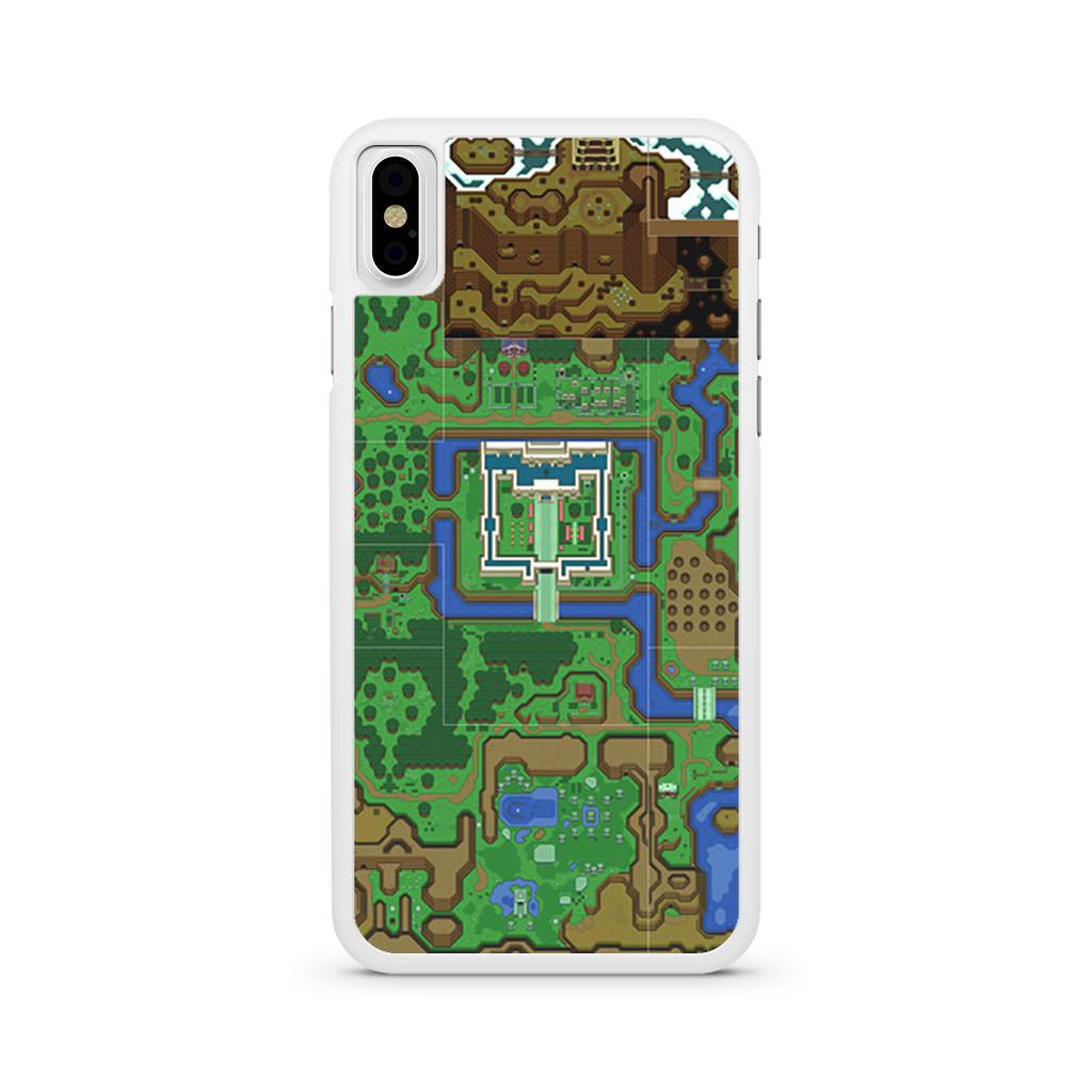Zelda A Link To The Past Map iPhone X case