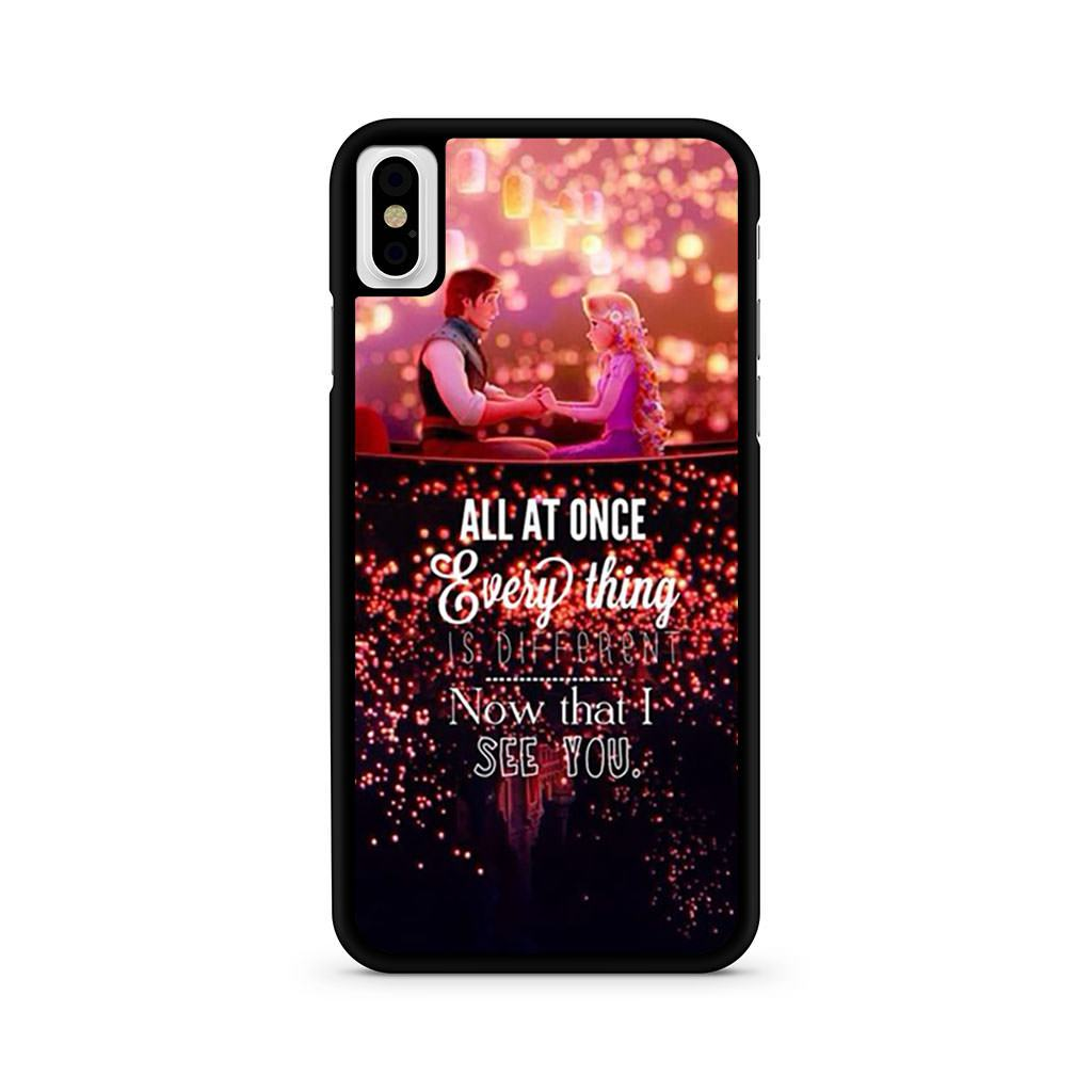 Tangled Quotes iPhone X case