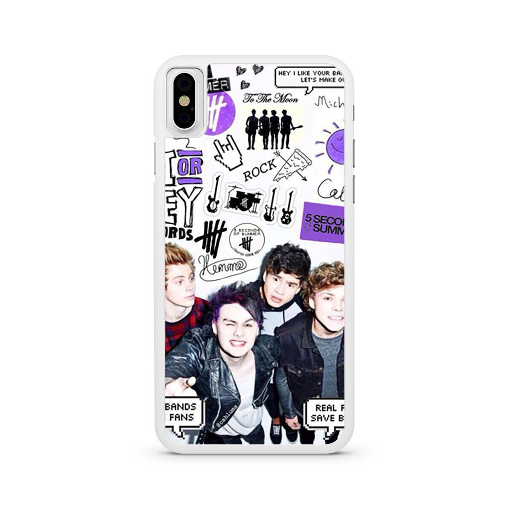 5 Seconds Of Summer Collage iPhone X case