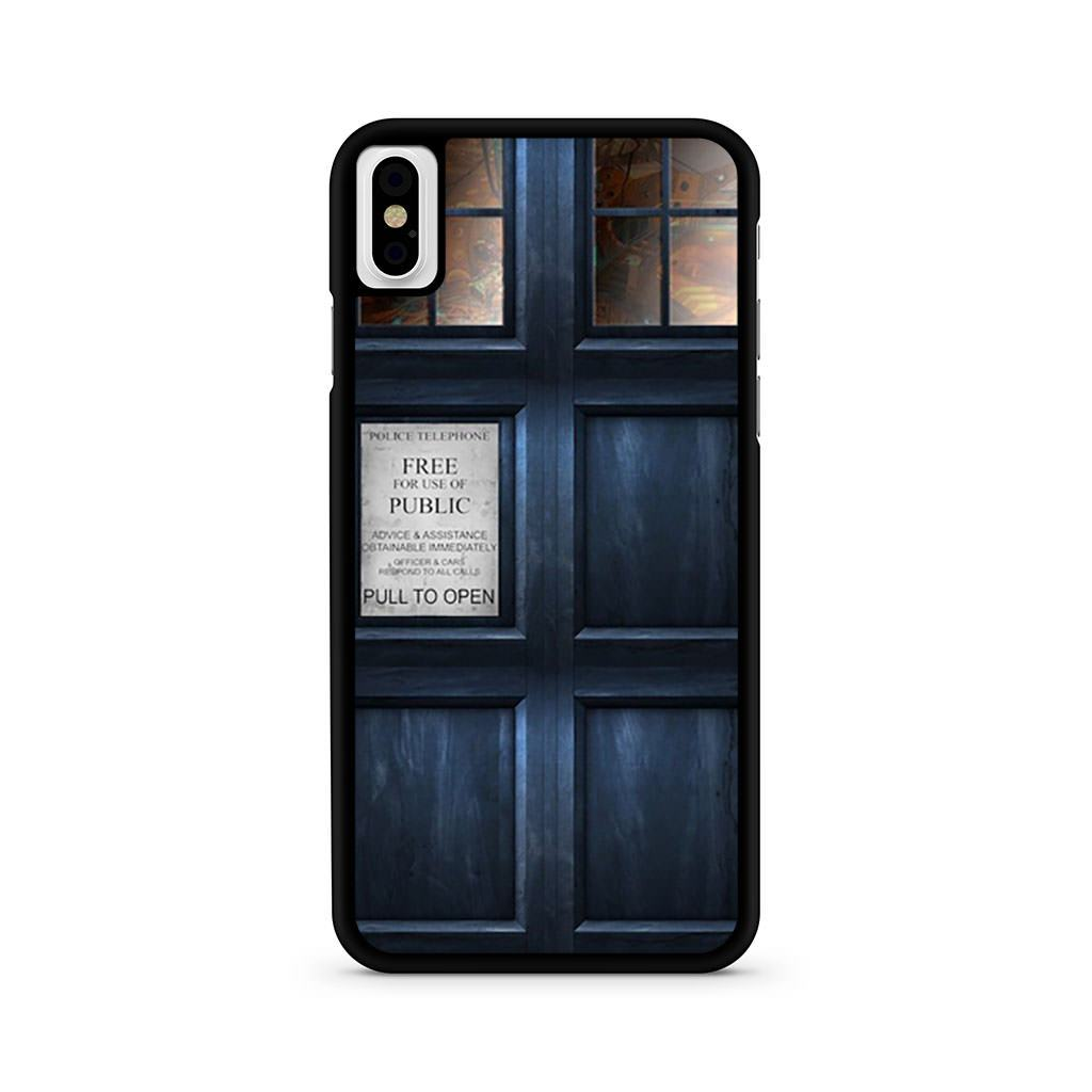 Doctor Who Tardis iPhone X case
