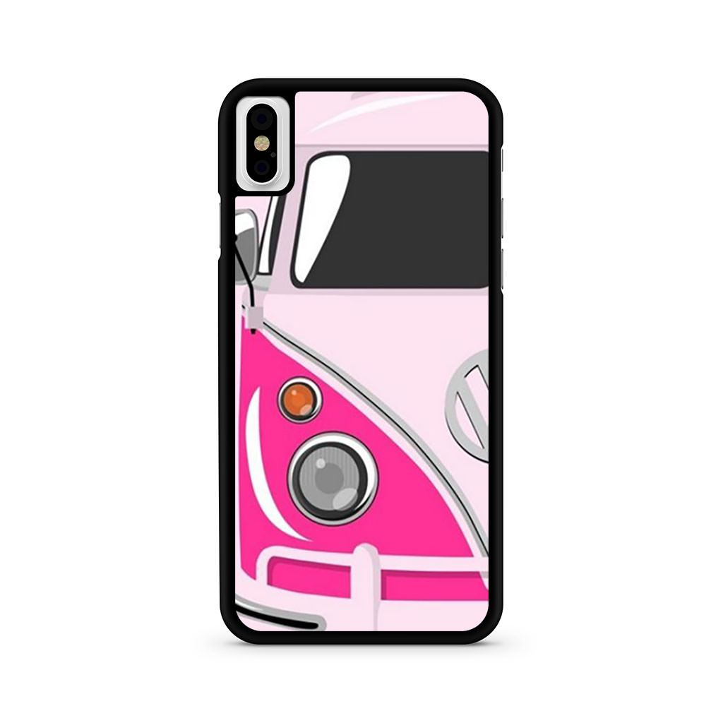 Vw Camper Van Pink iPhone X case