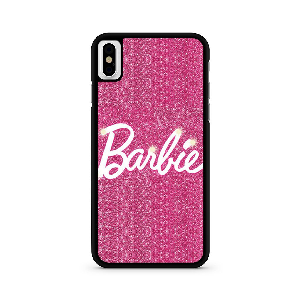 Barbie Pink Glitter iPhone X case