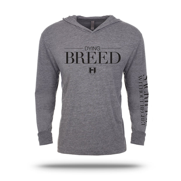 Hosstile Gray Dying Breed Pullover Hoodie Front