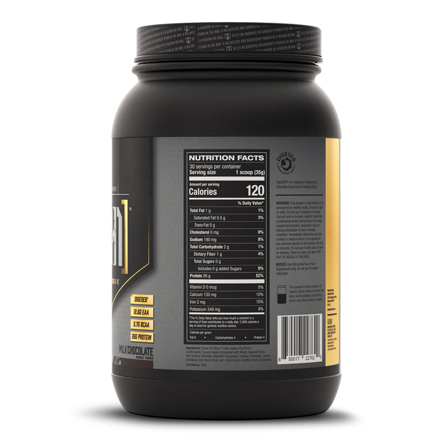 ISO[H1] Grass Fed Whey Protein Isolate Milk Chocolate Supplement Facts