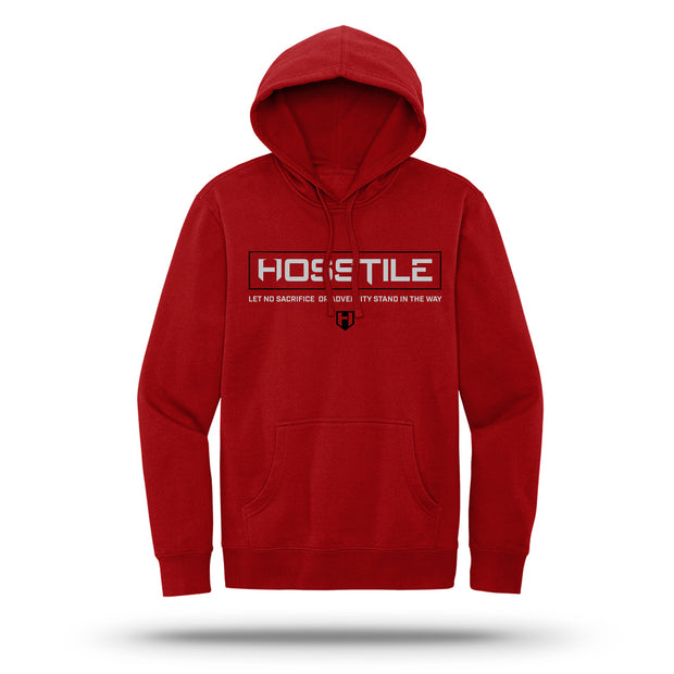HOSSTILE Signature Hoodie Red Front