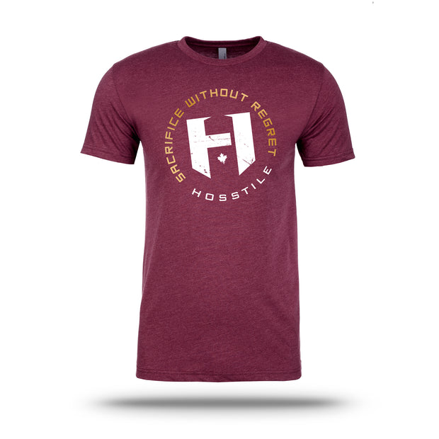 OG Hosstile Sacrifice T-Shirt Front Heather Maroon