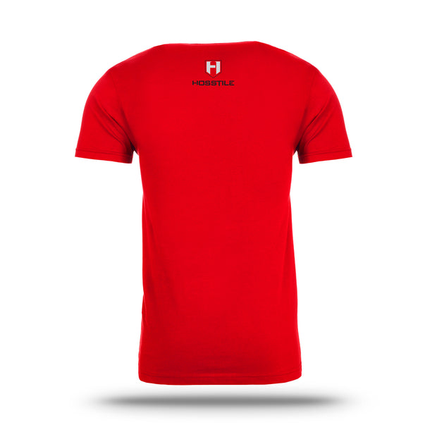 Red Hosstile Shield T-Shirt Back