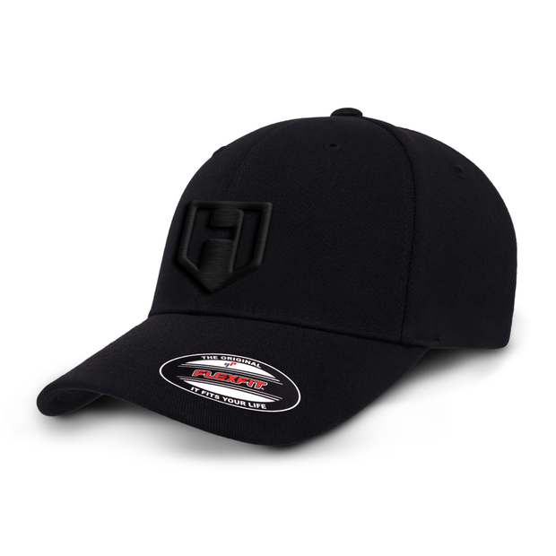 Hosstile Blackout Logo FlexFit Hat