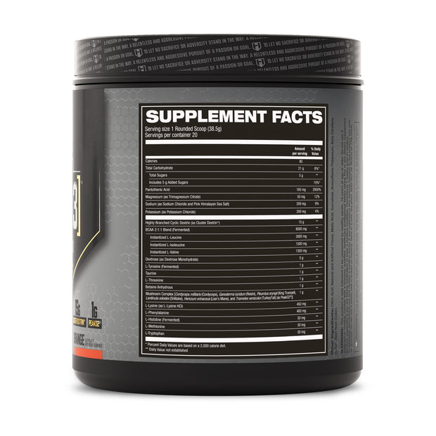 Hosstile Intra[R3] Intra-workout Orange Supplement Facts