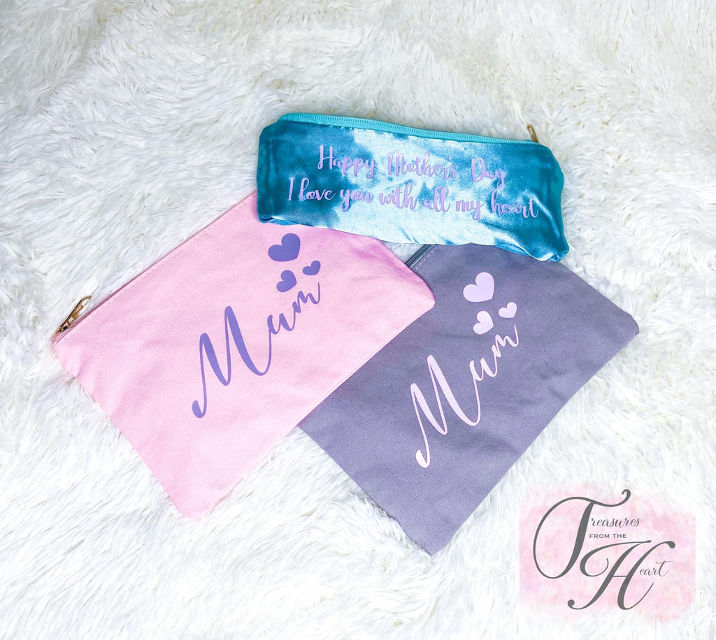 Personalised Cotton Make up Bag