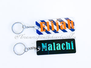 Rectangle Acrylic Keyring/Bag Tag