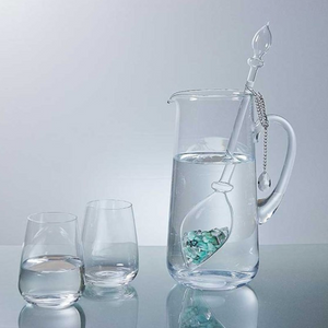 crystal water decanter set